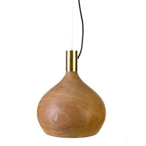 Lamp shade amphora wood